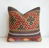 Embroidered Kilim Pillow Cover with Ethnic design - Sophie's Bazaar - 3