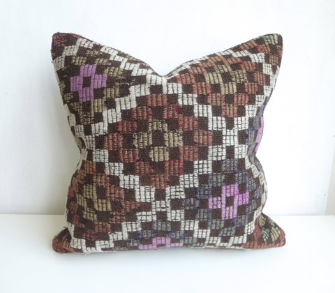 Vintage Embroidered Kilim Pillow Cover - Sophie's Bazaar - 1
