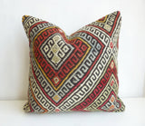Kilim Pillow Cover made with a vintage turkish rug - Sophie's Bazaar - 1