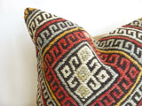 Kilim Pillow Cover made with a vintage turkish rug - Sophie's Bazaar - 2