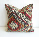 Kilim Pillow Cover made with a vintage turkish rug - Sophie's Bazaar - 3