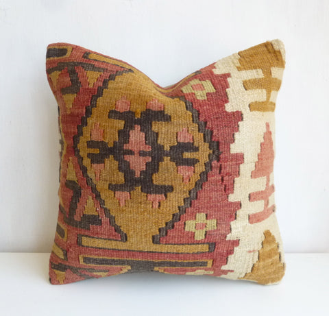 Terracotta Kilim Pillow Cover - Sophie's Bazaar - 1