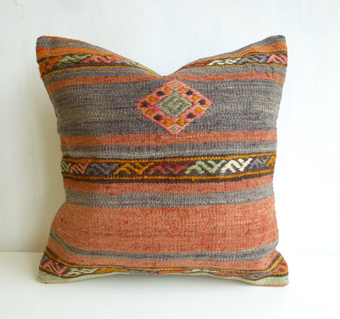 Bohemian Kilim Pillow Cover with Ethnic Pattern - Sophie's Bazaar - 1