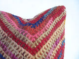 Colorful Embroidered Kilim Pillow Cover hand woven in Turkey - Sophie's Bazaar - 3