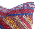 Colorful Turkish Embroidered Kilim Pillow Cover - Sophie's Bazaar - 4
