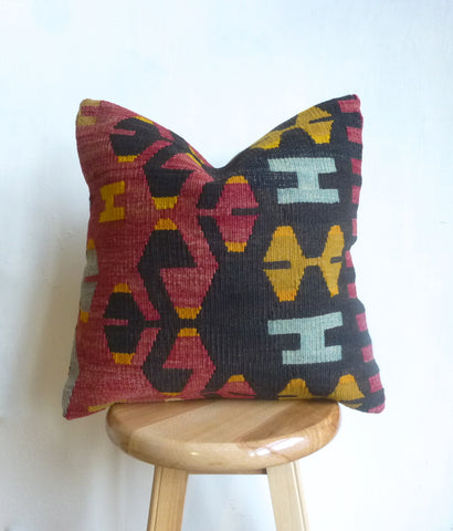 Beautiful Primitive Kilim Pillow Cover - Sophie's Bazaar - 1