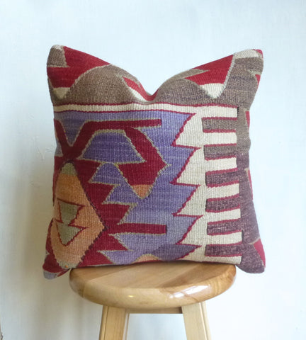 Pretty Tribal Kilim Pillow Cover - Sophie's Bazaar - 1