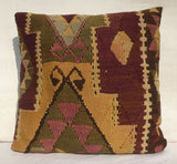Large Decorative Kilim Floor Pillow 60x60 cm - Sophie's Bazaar - 3