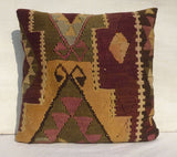 Large Decorative Kilim Floor Pillow 60x60 cm - Sophie's Bazaar - 4