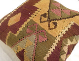 Large Decorative Kilim Floor Pillow 60x60 cm - Sophie's Bazaar - 2
