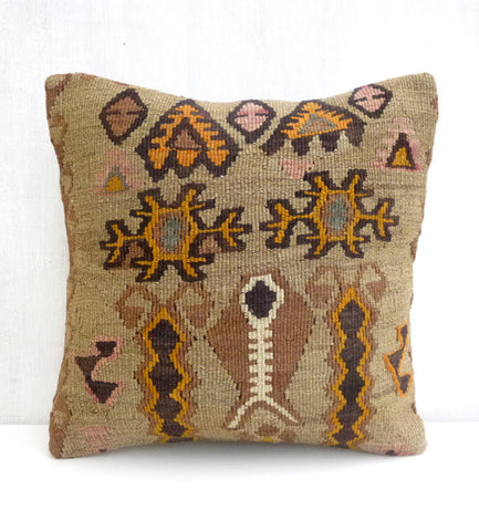 Unique Kilim Throw Pillow - Sophie's Bazaar - 1