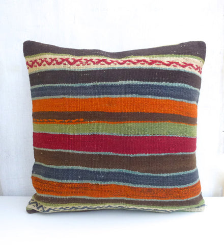 Decorative 20' Kilim Floor Pillow 50x50 cm - Sophie's Bazaar - 1