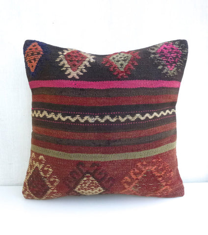 Decorative Bohemian Kilim Throw Pillow - Sophie's Bazaar - 1