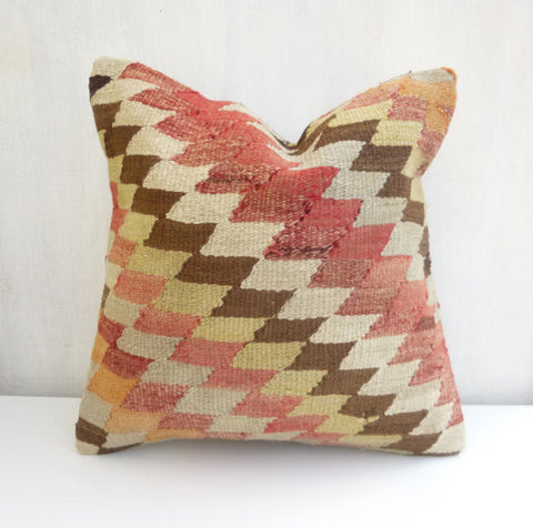 Bohemian Kilim throw Cushion with Chevron - Sophie's Bazaar - 1