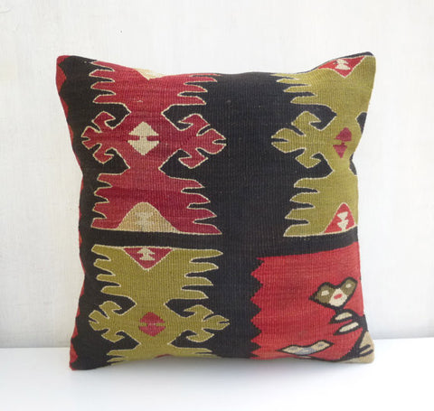 Ethnic Kilim Throw Pillow with original Design - Sophie's Bazaar - 1