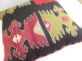 Ethnic Kilim Throw Pillow with original Design - Sophie's Bazaar - 5