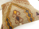 Ethnic Kilim Throw Pillow with Earth tones - Sophie's Bazaar - 5