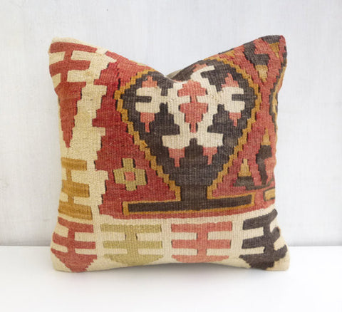 Amazing kilim throw pillow with rich design and colors - Sophie's Bazaar - 1