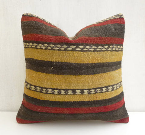 Striped Kilim Pillow cover - Sophie's Bazaar - 1