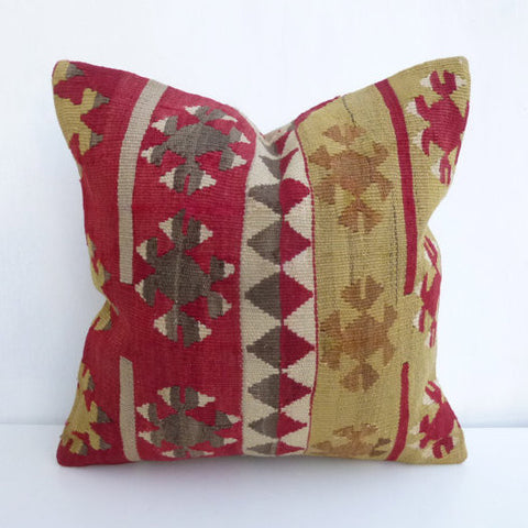 Bohemian Kilim throw pillow - Sophie's Bazaar - 1