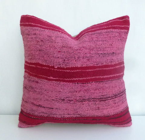Pink Overdyed Kilim Throw cushion - Sophie's Bazaar - 1