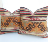 Pair of Decorative Kilim Pillow covers - Sophie's Bazaar - 1