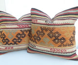 Pair of Decorative Kilim Pillow covers - Sophie's Bazaar - 5