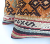 Pair of Decorative Kilim Pillow covers - Sophie's Bazaar - 2