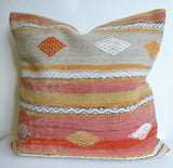 Large 24' Kilim Floor Pillow 60x60 cm - Sophie's Bazaar - 1