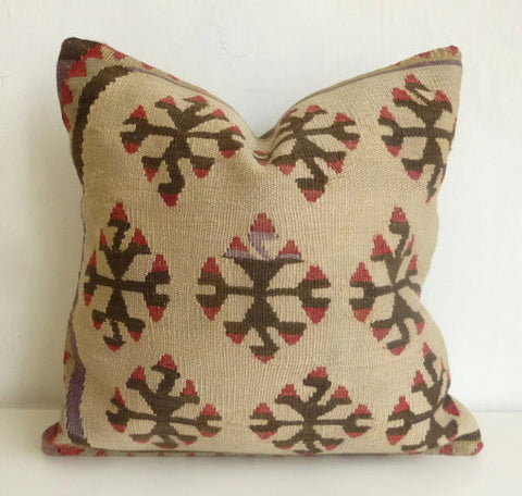 Cream Kilim throw Pillow - Sophie's Bazaar - 1