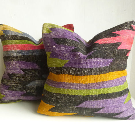 Pair of Kilim Pillow covers - Sophie's Bazaar - 1