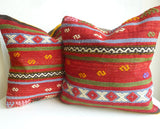 Red Ethnic Kilim Pillow Set - Sophie's Bazaar - 3