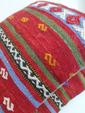 Red Ethnic Kilim Pillow Set - Sophie's Bazaar - 5