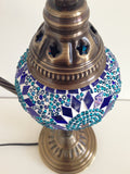 Royal Blue and Aqua Swan neck Mosaic Lamp - Sophie's Bazaar - 4