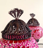 Pair of Small Pink Turkish Mosaic Lamps - Sophie's Bazaar - 4