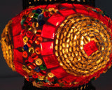 Small Turkish Mosaic Lamp with Hand crafted Copper Base - Sophie's Bazaar - 3