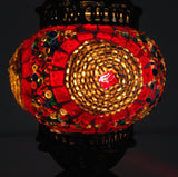 Small Turkish Mosaic Lamp with Hand crafted Copper Base - Sophie's Bazaar - 4