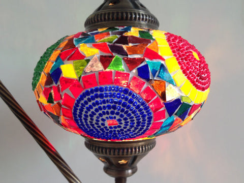 Very Colorful & Exotic Swan neck Mosaic Lamp - Sophie's Bazaar - 1