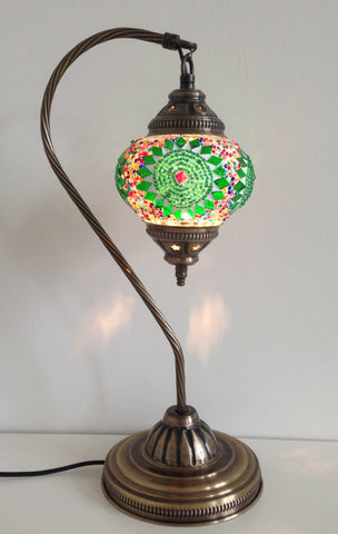 Swan neck Turkish Mosaic Lamp - Sophie's Bazaar - 1