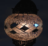 Turkish Mosaic Lamp with Hand Crafted Copper swan neck base - Sophie's Bazaar - 3