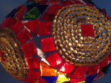 Red and Gold Swan Neck Mosaic Lamp With Vintage Look Base - Sophie's Bazaar - 4