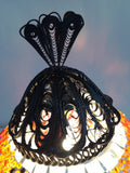 Orange Turkish Mosaic lamp with hand crafted copper base - Sophie's Bazaar - 5