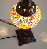 Turkish Swan Neck Mosaic Lamp With Gold & silver colors - Sophie's Bazaar - 3