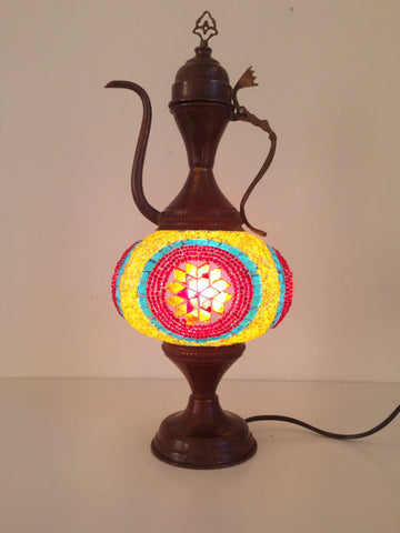 Exotic Middle Eastern mosaic Table lamp - Sophie's Bazaar - 1