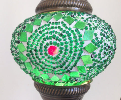 Pretty Green Swan Neck Mosaic Lamp, Turkish night lamp, Night Decoration - Sophie's Bazaar - 1