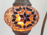 Star Design Bohemian Swan Neck Mosaic Lamp With Vintage Look Bronze Plated Base - Sophie's Bazaar - 1