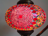 Stylish Pink Swan Neck Mosaic Lamp With Vintage Look Square Base - Sophie's Bazaar - 1