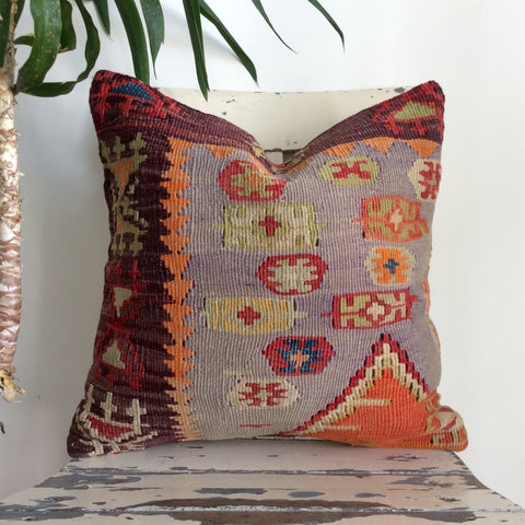 Ethnic Colorful Decorative Kilim Pillow - Sophie's Bazaar - 1