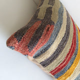 Blue Kilim Pillow cover with Stripes - Sophie's Bazaar - 4