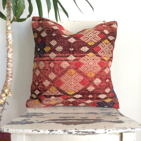 Exquisite Decorative Kilim Pillow - Sophie's Bazaar - 1